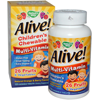 Thumb: Natures Way Alive Childrens Multi Vitamin Orange Berry 120 Chewable Tablets
