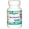 Thumb: Nutricology Zinc Citrate 25 60 Vcaps