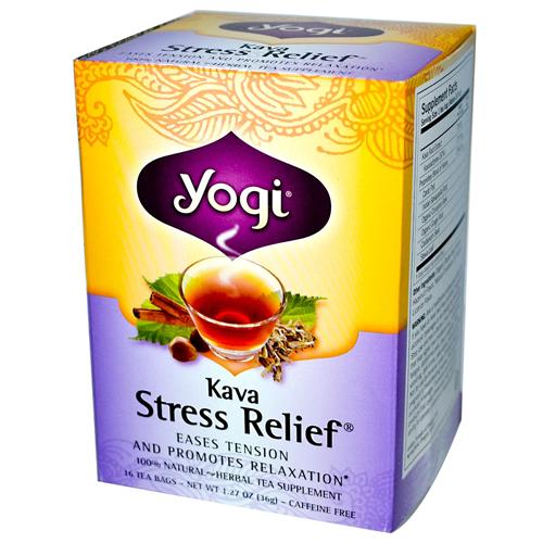 Yogi Kava Stress Relief 16 Caffeine Free Tea Bags
